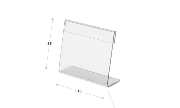 Desk plate, l-shape, 110 x 85 mm