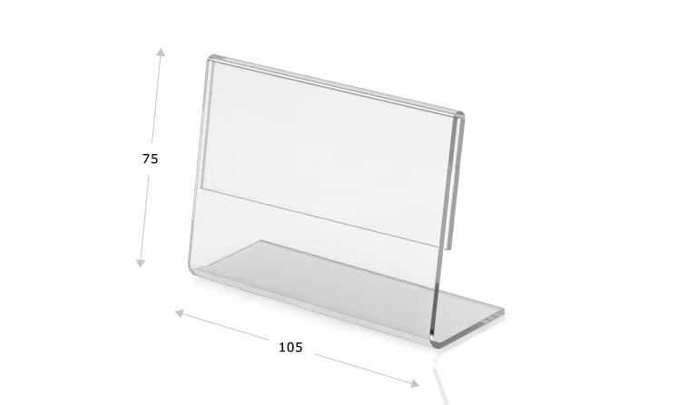 Tischaufsteller L-Form 105 x 75