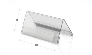 Desk plates made of acrylic glass