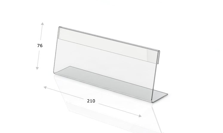Desk plate, l-shape, 210 x 76 mm