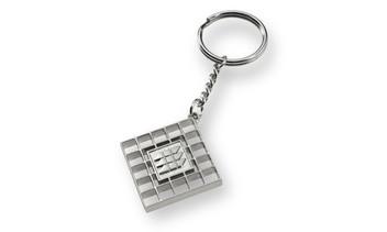 Schlüsselanhänger als vollplastischer Metallguss