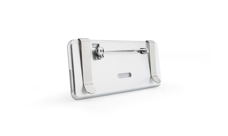 Targhette portanome in plastica con sistema di fissaggio sul retro