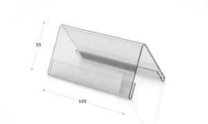 Tischaufsteller aus Acrylglas