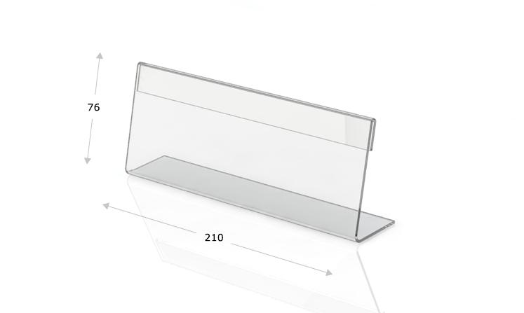 Espositori da tavolo a forma di L, 210 x 76 mm