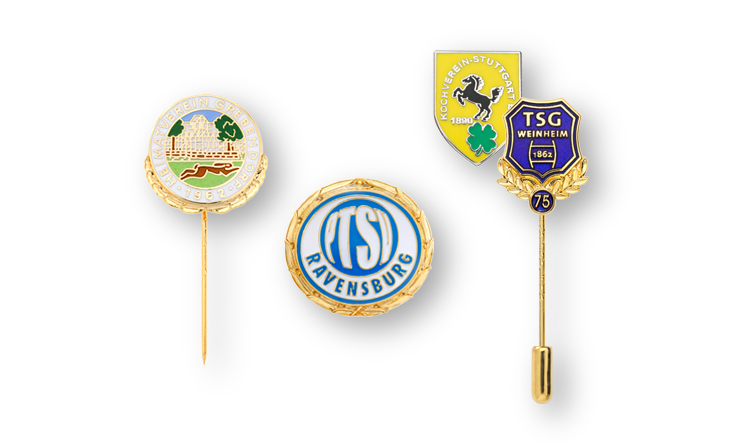 Award pins and club badges