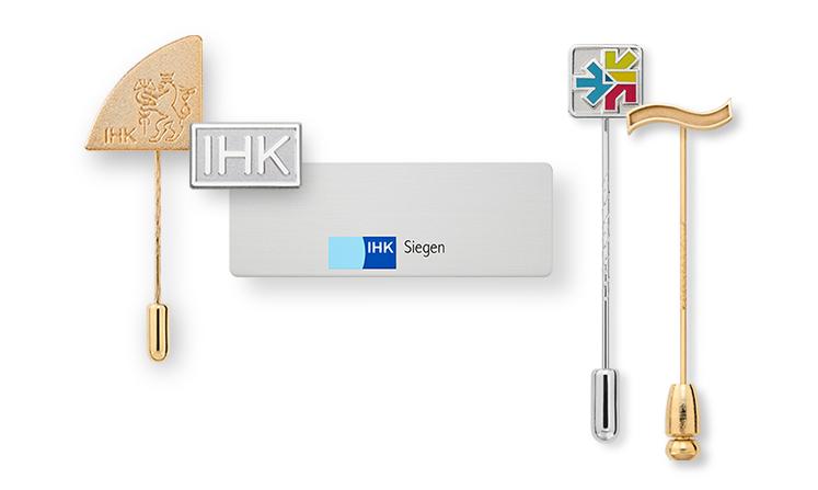 IHK – Ansteckpins, Anstecknadeln und Embleme