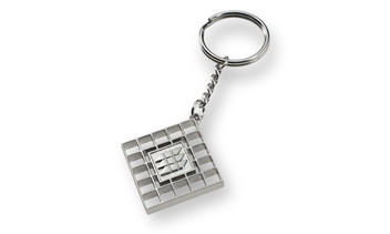 Key rings as a fully relief cast metal