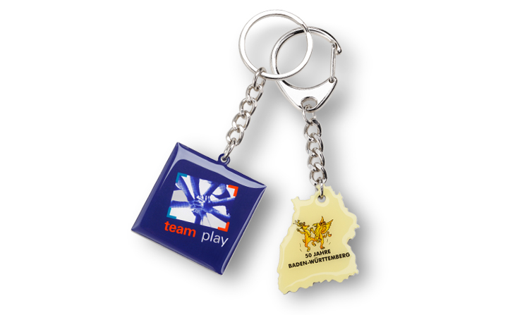 Key rings with print