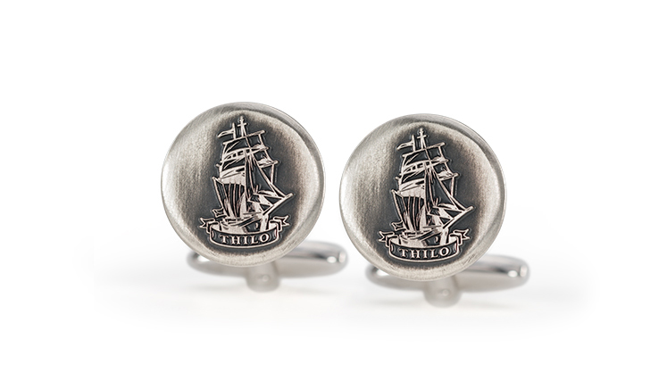 Cufflinks with individual engraving