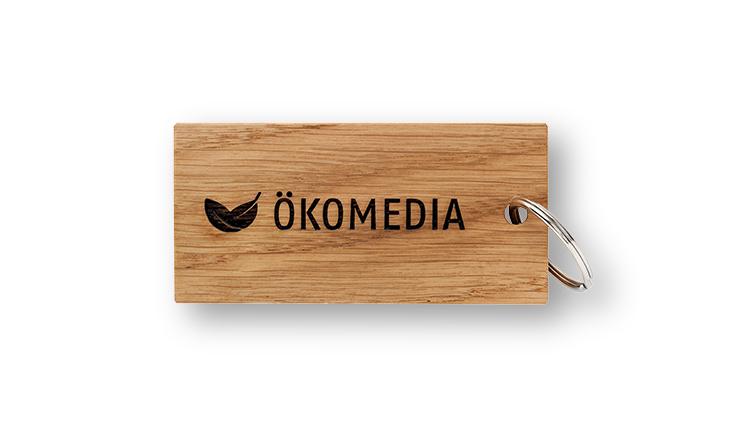 Key ring made of oak