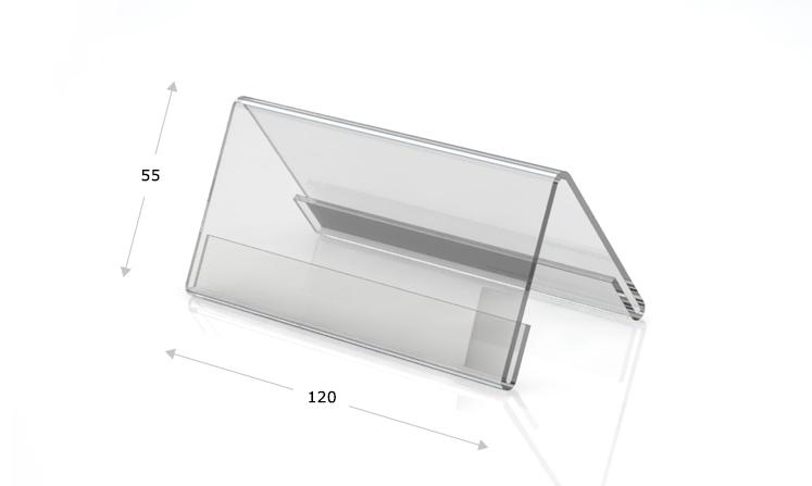 Desk plate, roof shape, 120 x 55 mm