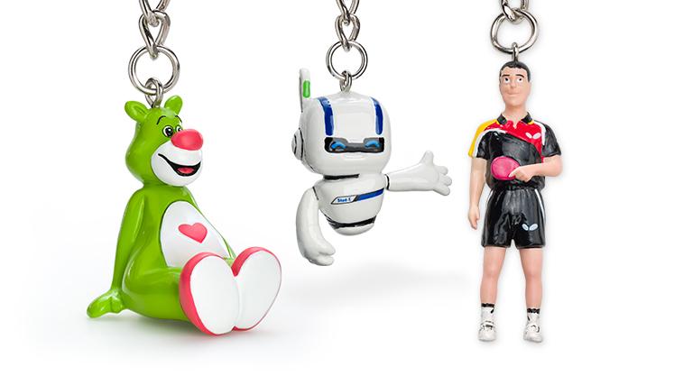 Schlüsselanhänger-Figuren