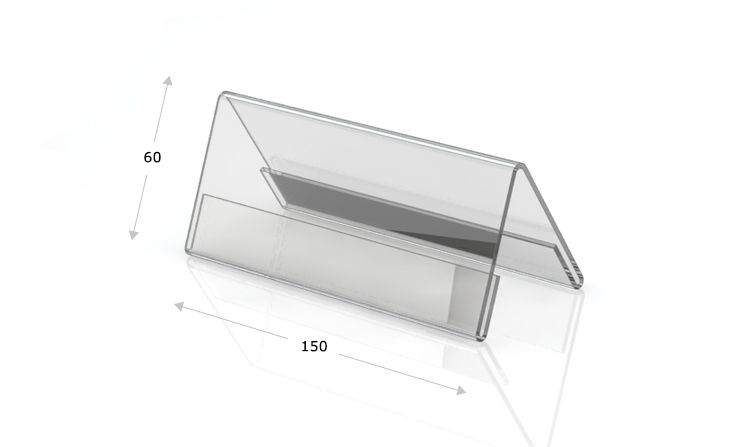 Tischaufsteller Dachform 150 x 60