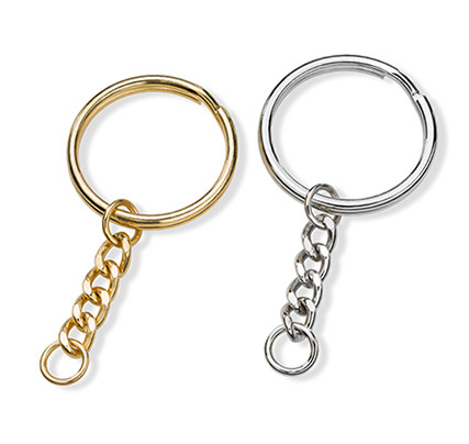 Jewellery & key rings: key ring in gold and silver