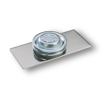 Round Magnet with counter-plate for clothing