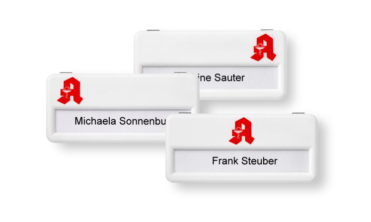 Namensschilder für Apotheken