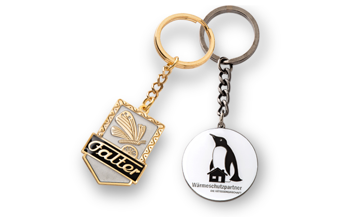 Key rings with motifs