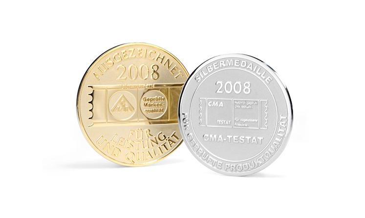 Medaillen vom Hersteller