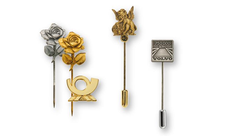 Lapel badges, lapel pins & pin badges as a relief