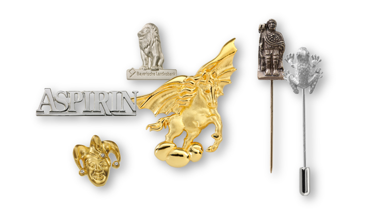 Lapel pins & pin badges in full & half relief
