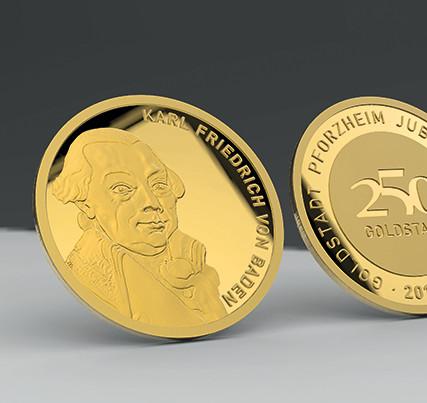 Medals: renderings 3d data - Pforzheim medal