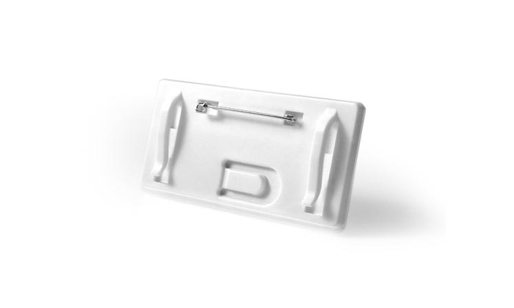 Targhette portanome in plastica, colore di bianco