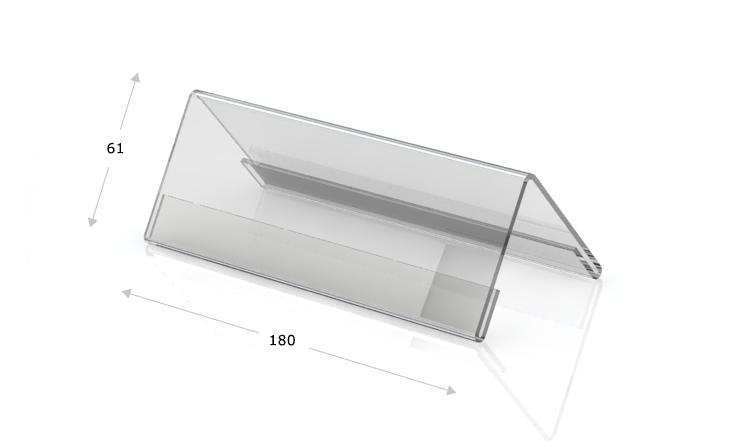Espositori da tavolo a forma di tetto, 180 x 61 mm