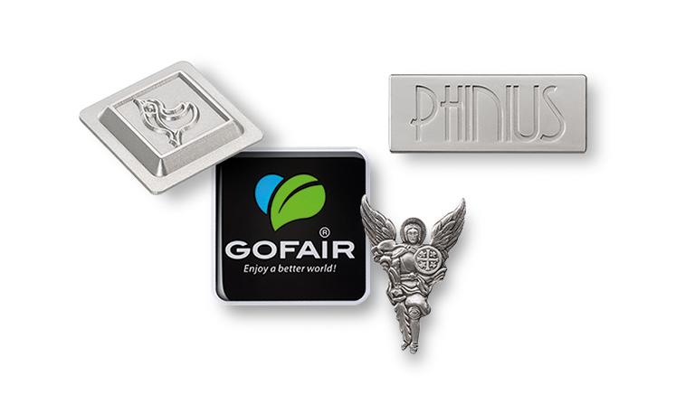 Emblems, badges and brand labels