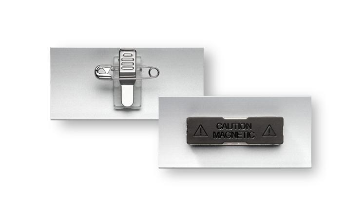 Namensschilder zur Selbstgestaltung mit Magnet oder Kombiclip