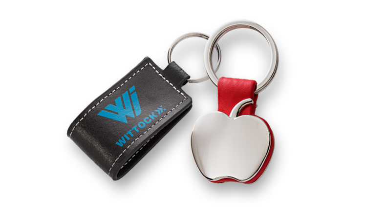 Key ring leather and metal