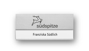 Aluminium Name Badges with Engraving for Self Labelling