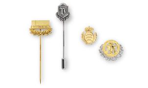 Award pins with laurels