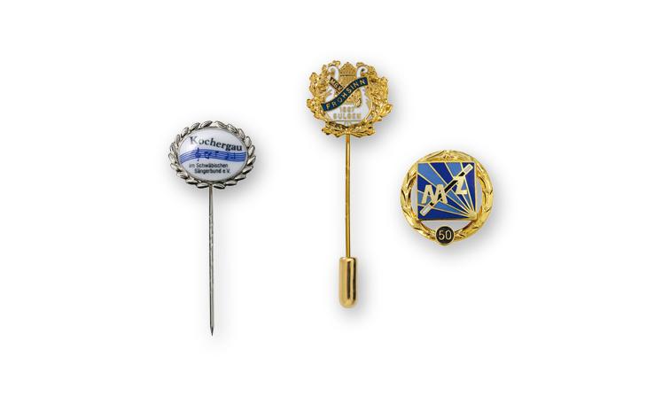 Anstecknadeln und Vereinsabzeichen für Musikvereine