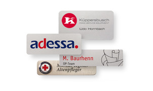 Aluminium name badges