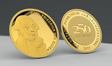 Medaille Goldstadt Pforzheim