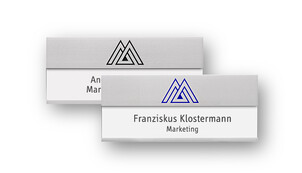 Name Badges with Large Area for Lettering and Engraving