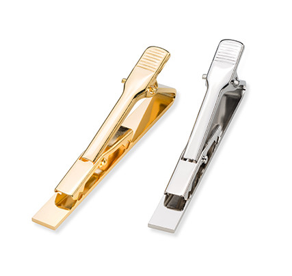 Jewellery & key rings: tie clips in gold or silver