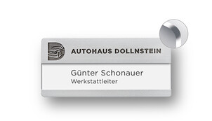 Name Badges with Engraving for Names with Additional Line