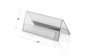 Tischaufsteller Acrylglas, Dachform 150 x 60
