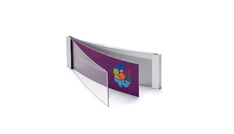 Targhette portanome in alluminio