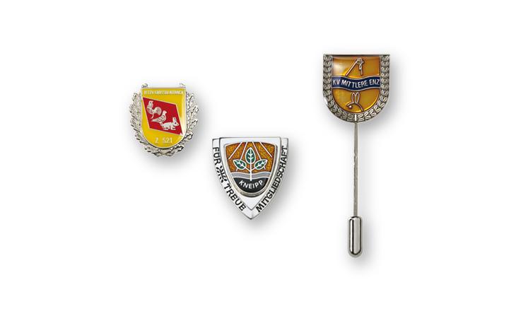 Vereinsabzeichen und Anstecknadeln für Vereine