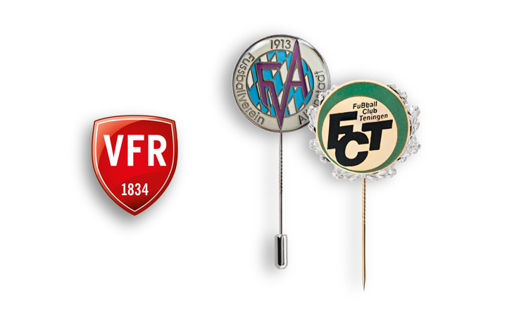 Pin badges, club badges, award pins, lapel pins for football clubs