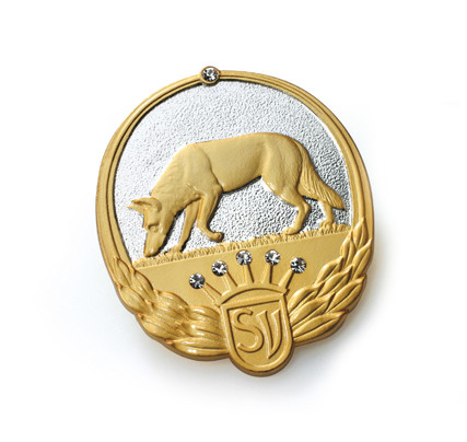 Badges and emblems: embossed as a relief