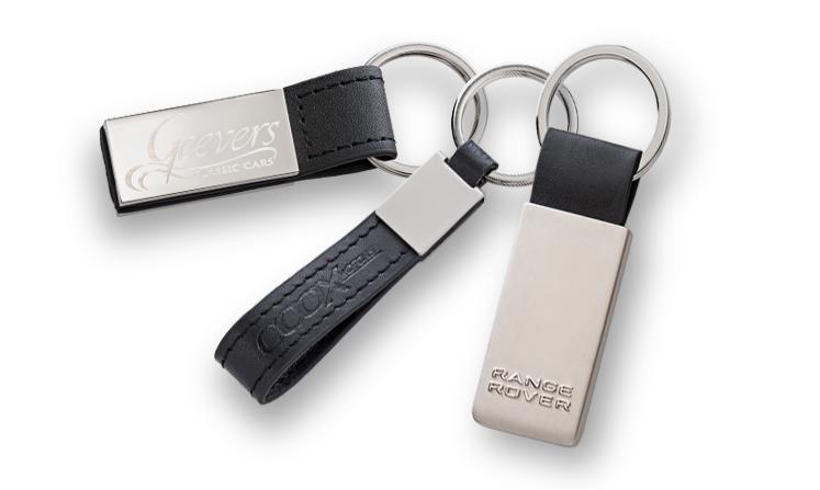 Schlüsselanhänger Leder und Metall