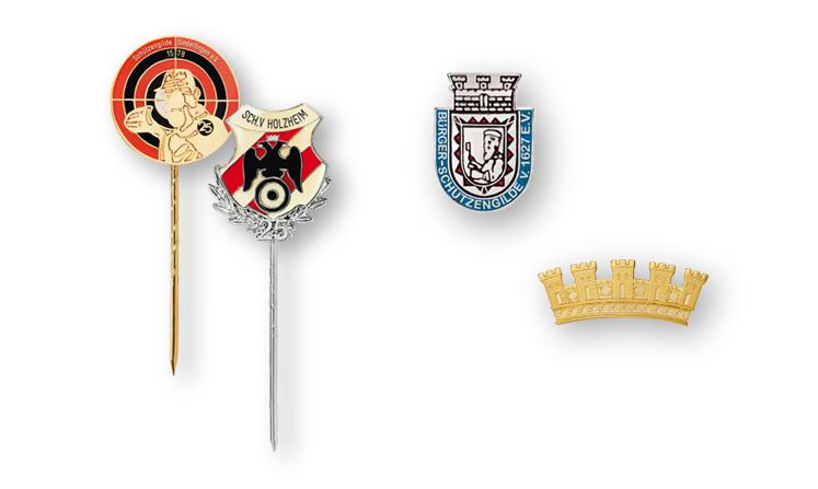 Ehrennadeln und Abzeichen für Schützenvereine