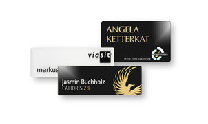 Name badges made of high quality acrylic glass