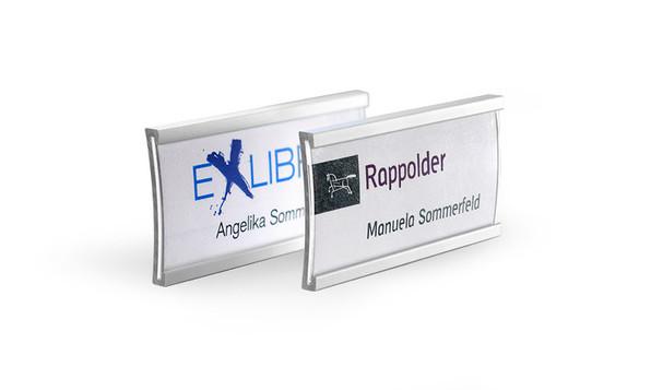 Name badges made of pure aluminium