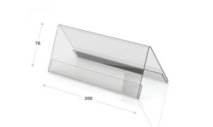 Espositori in vetro acrilico, 200 x 76 mm