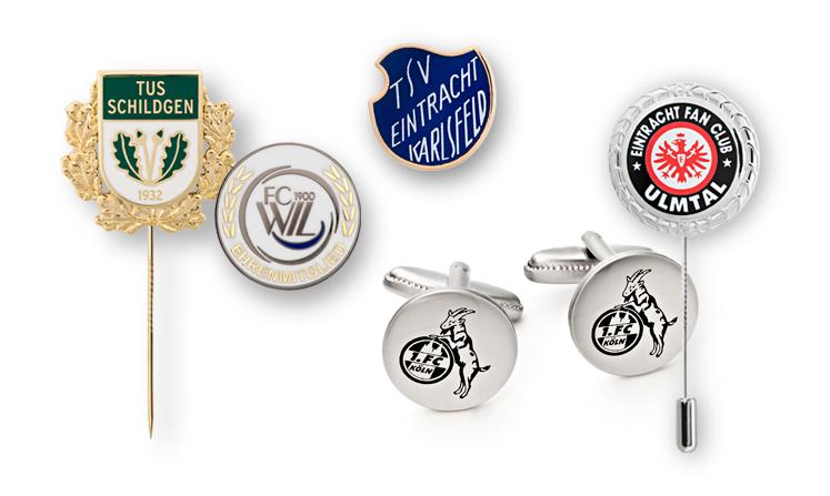 Pin badges, club badges, award pins for football clubs