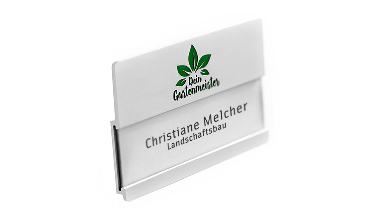 name badges with engraving for names with large logos